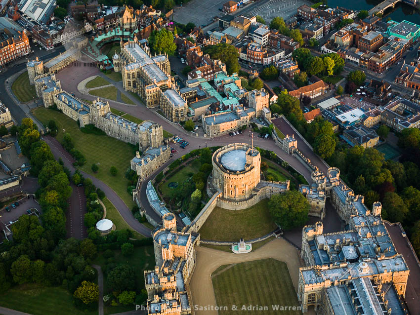 The Round Tower And St. George's Chapel, Windsor Castle, A Royal Residence, Windsor, Berkshire, England
