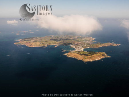 St Mary's Looking Over The Garrison To East And North East With Eastern Isles In Background, The Isles Of Scilly, An Archipelago Off The Cornish Coast Of England