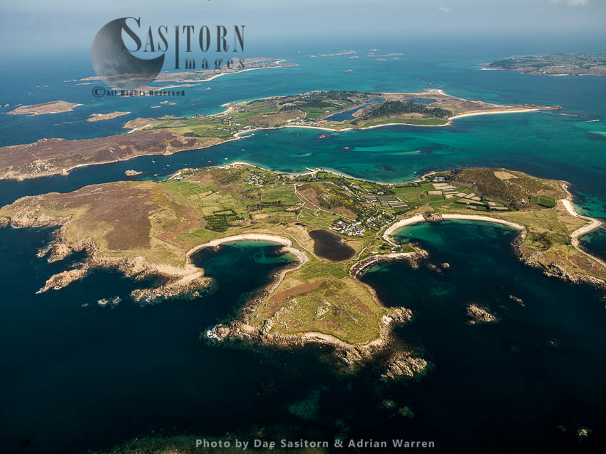 Bryher, With Treco In Background, The Isles Of Scilly, An Archipelago Off The Cornish Coast, Southwest England