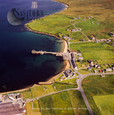 Mid Yell, Coastal Settlement On The Island Of Yell, The Second-largest, Shetland Islands, Scotland