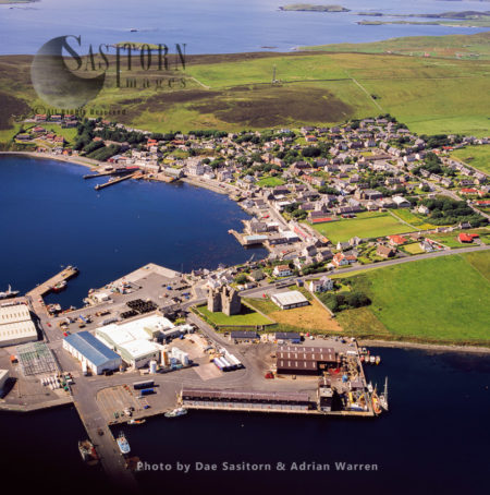 Scalloway Castle And Town, The Largest Settlement On The West Mainland, Shetland , Shetland Islands, Scotland