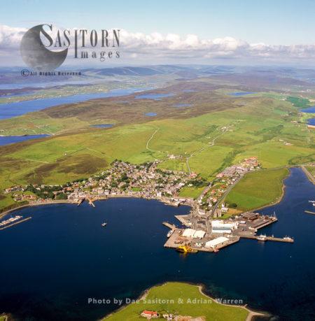Scalloway, The Largest Settlement On The West Mainland, Shetland , Shetland Islands, Scotland