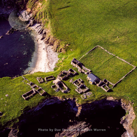 Abandoned And Ruined Village At South Havra, Now An Uninhabited Island, Shetland Islands, Scotland