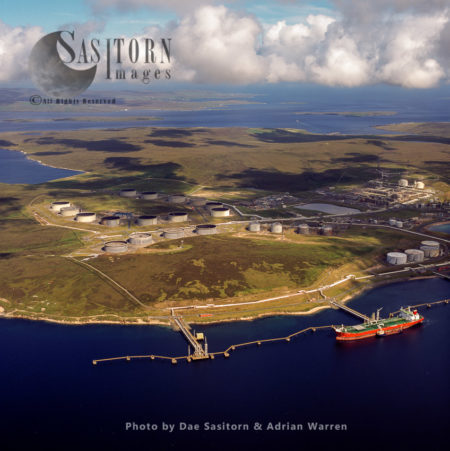 Sullom Voe Oil Terminal (Sullom Voe, An Inlet Between North Mainland And Northmavine), Mainland Shetland, Shetland Islands, Scotland