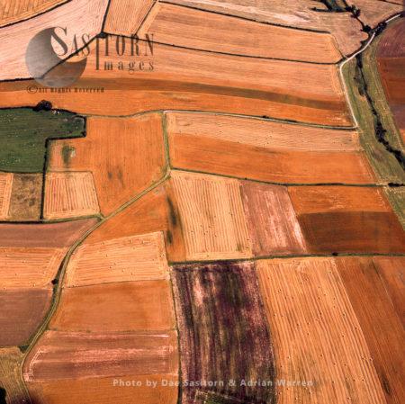 Mediaeval Open Field System Near Laxton, Nottinghamshire