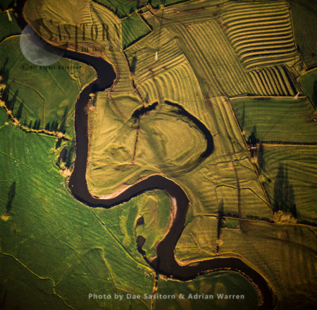 River Dove East Of Uttoxeter – Oxbow Lake, With Ridge And Furrow Plough Marks, Staffordshire