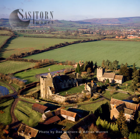 Stokesay Castle,           Stokesay, Shropshire. One Of The Finest Surviving Fortified Manor Houses In England