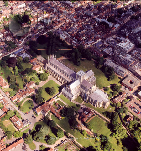 Winchester Cathedral And Its City, Hampshire, England