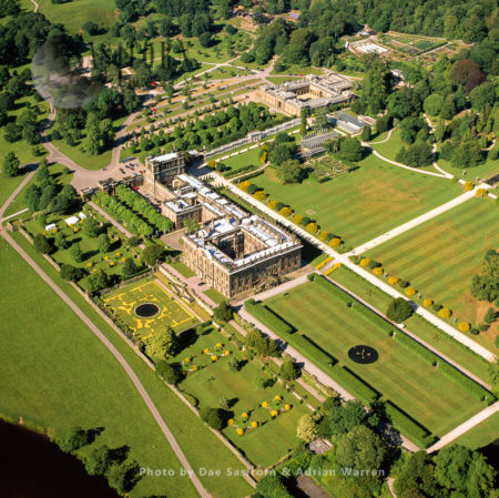 Chatsworth House, A Stately Home In Derbyshire, England
