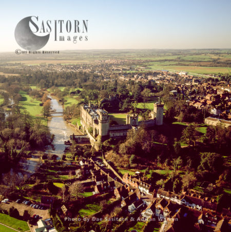 Warwick Castle And River Avon, Warwickshire, England