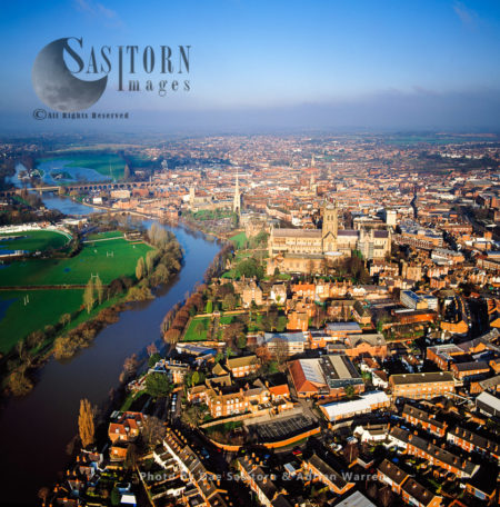 Worcester, On The River Severn, A City And Its Cathedral, West Midlands, England