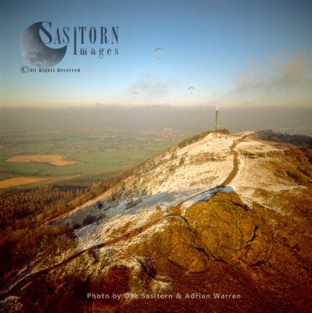 The Wrekin In Snow, Shropshire, England