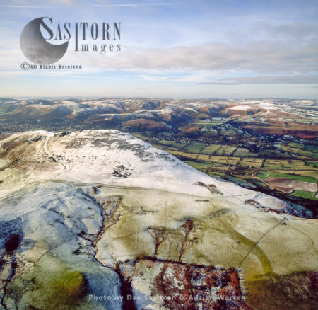 Caer Caradoc Hill Fort In Snow, Church Stretton, Shropshire