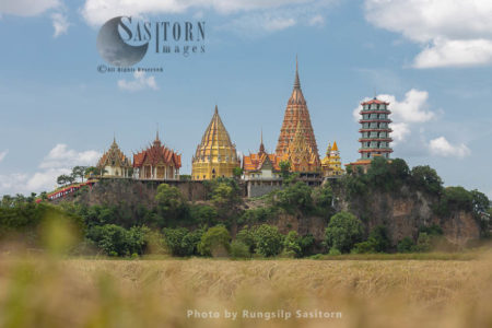 Wat Tham Sua (Tham Sua Temple) Is One Of Famous Temples In Kanchanaburi Thailand.