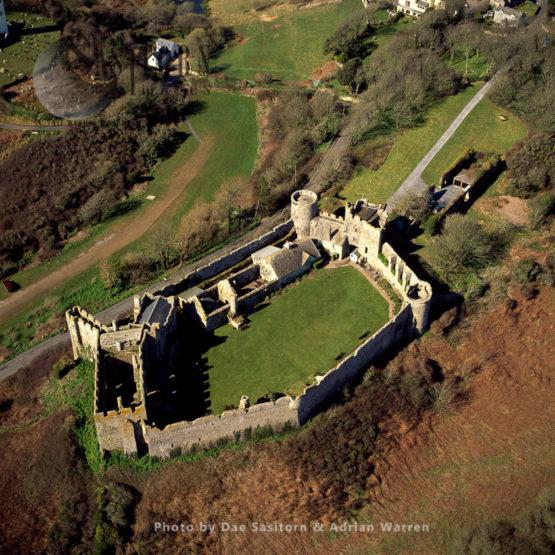 Manorbier Castle, A Norman Castle, Manorbier, 5 Miles Southwest Of Tenby, Wales