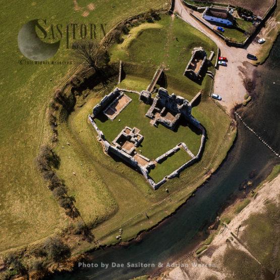 Ogmore Castle, A Castle Ruin, Near Ogmore-by-Sea, South Of  Bridgend, Glamorgan, South Wales