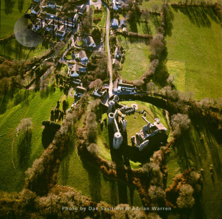 Llawhaden Castle, Stands On A Hill Overlooking The River Cleddau, Llawhaden, Pembrokeshire, South Wales