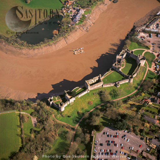 Chepstow Castle, Located Above Cliffs On The River Wye, Chepstow, Monmouthshire, South Wales