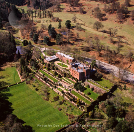 Powis Castle And Its Terraced Gardens, A Medieval Castle, Fortress And Grand Country Mansion Near Welshpool, In Powys, Wales