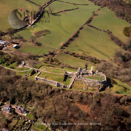 Montgomery Castle, A Stone Masonry Norman Castle Looking Over The Town Of Montgomery In Powys, Mid Wales
