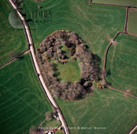 """Hen Domen Welsh, Meaning """"old Mound"""", The Site Of The Original Medieval Timber Motte-and-bailey Montgomery Castle, Powys, Mid Wales"""