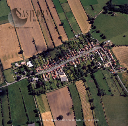 Medieval Layout Fields And Village At Appleton-le-Moors, Ryedale, Yorkshire