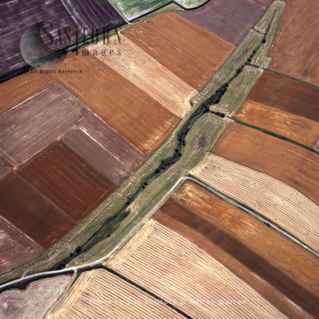 Medieval Open Fields At Laxton, East Riding Of Yorkshire