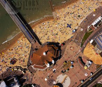 Bournemouth Pier And Beach Scene, Bournemouth, Dorset