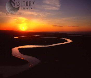 River Parrett At Burnham-on-Sea (sunset), Somerset