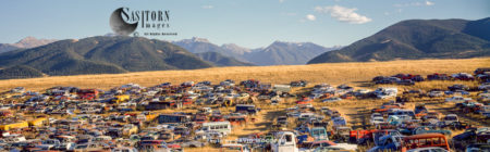 Car Dump In Prairies, Rocky Mountain Front, Montana, USA
