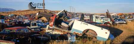 Car Dump In Prairies, Rocky Mountain Front, Montana, USA
