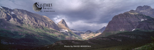 Mount Wilbur (right) And Valley, Glacier National Park, Montana