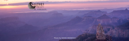 Mist At Dawn, Mount Hayden, Grand Canyon National Park From Point Imerial, North Rim, Arizona, USA