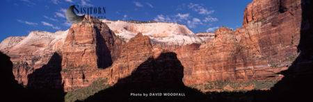Canyon Walls And Patriachs, Zion National Park, Utah, USA