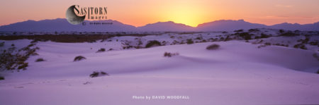 Sunset, White Sands National Park, Tularosa Basin, New Mexico, USA