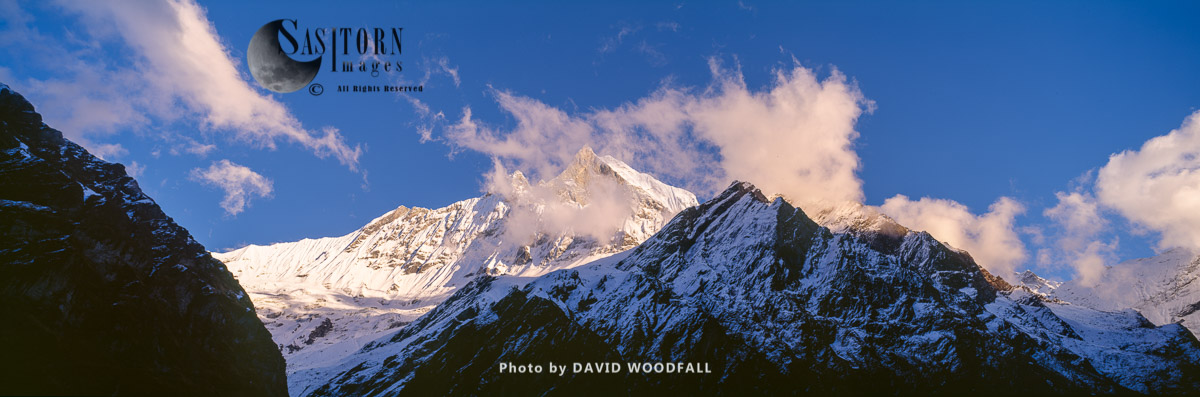 Sunset over Himalayas Ama Dablam Base Camp, Sagarmatha National Park, Nepal