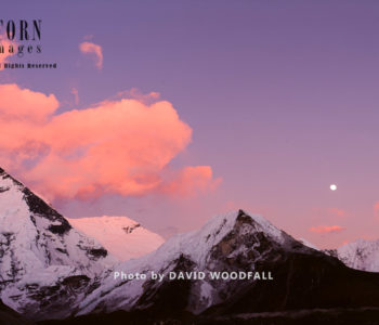 Rising Moon Over Island Peak (Imja Tse), Himalayan Mountain Range, Sagarmatha National Park, Nepal