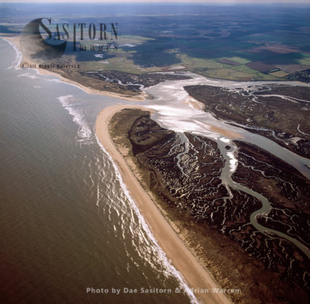 Burnham Overy Salt Marshes At  Burnham Overy Staithe, Norfolk, East Anglia