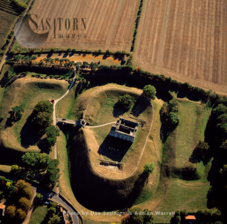 Castle Rising, A Ruined Medieval Fortification In The Village Of Castle Rising, Norfolk