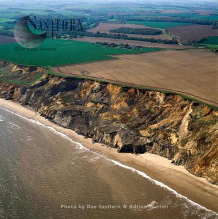 Coast Erosion By North Sea, Sidestrand, Near Cromer, Norfolk