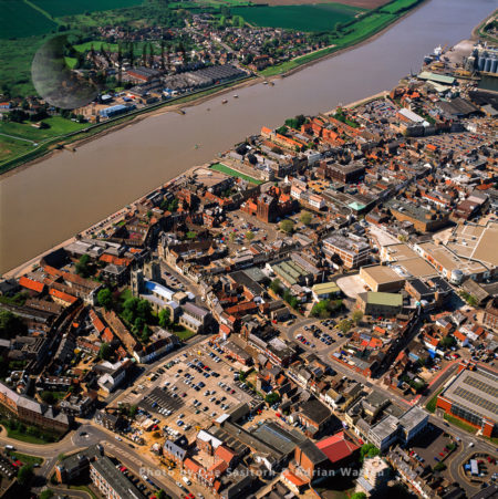 Kings Lynn And River Great Ouse, Norfolk, East Anglia