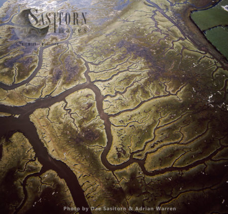 Mud Flats On River Lune, Lancaster, Lancashire