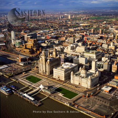 The Three Graces, Liverpool Waterfront, Merseyside