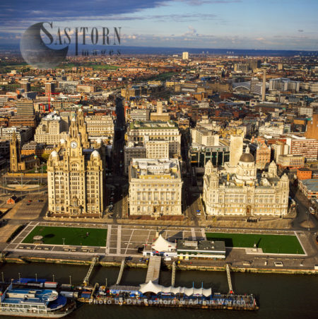 The Three Graces,  Liverpool Waterfront, Merseyside, England