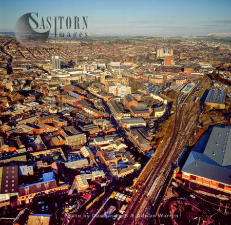 Blackburn Train Station, Blackburn Cathedral And Town Centre, Lancashire