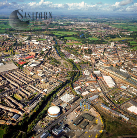 Carlisle Town Centre And The River Eden, Cumbria