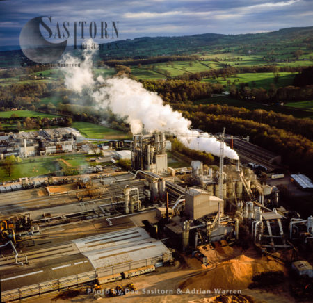 Wood-Chip Factory At Chirk, Wales