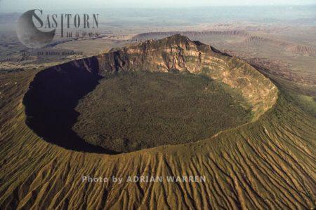 Mount Longonot, A Stratovolcano, Near Lake Naivasha, East African Rift Valley, Kenya