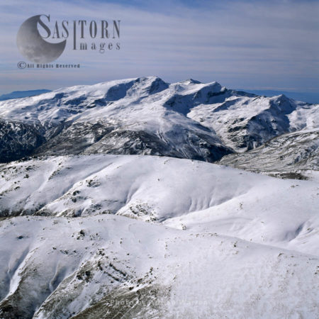 Sierra Nevada With Snow Caps, A Mountain Range In Andalucia In November, Spain