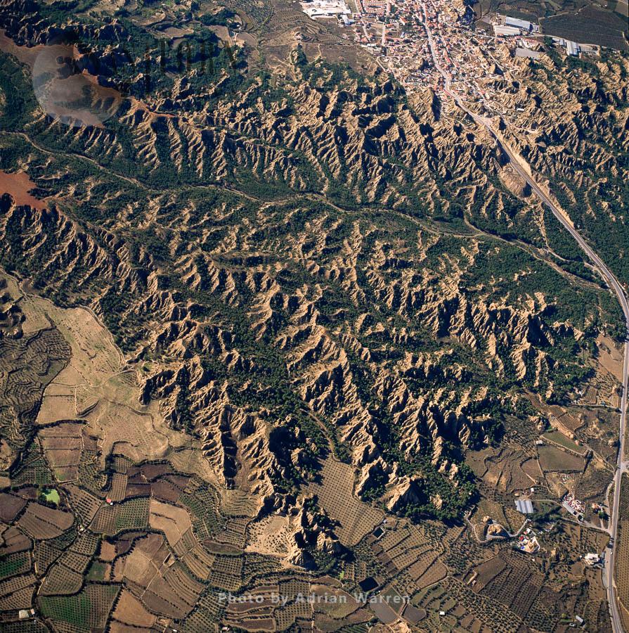 Landscape at Purullena, Sierra Nevada National Park, Granada, Andalusia in Spain